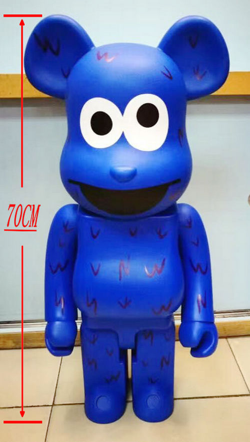 New 1000% Be@rbrick 70cm bearbrick Sesame ELMO PVC action figure Fashion toy figure Toy Brinquedos Anime hot selling oversize 1000% bearbrick luxury lady ch be rbrick medicom toy 52cm zy503