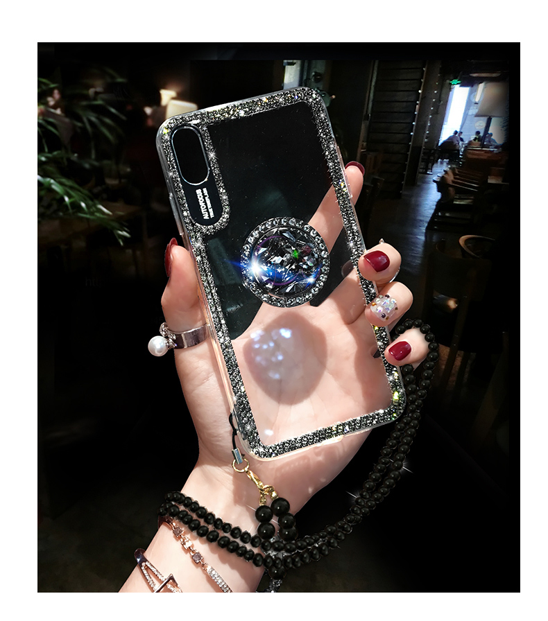 HTB1 s.vXO 1gK0jSZFqq6ApaXXa2 Luxury Bling Glitter With Finger Ring Case For iPhone X 8 7 6 6S Plus XR XS 11 Pro Max Cover Fashion Diamond Soft TPU Phone Case