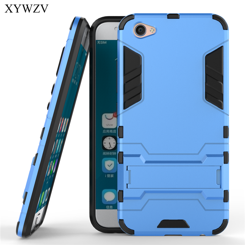 For Vivo X9 Case Shockproof Cover Soft Silicone Robot Hard Phone Cover Case For BBK Vivo X9 Cover For Vivo X9 X 9 Coque XYWZV in Fitted Cases from Cellphones Telecommunications