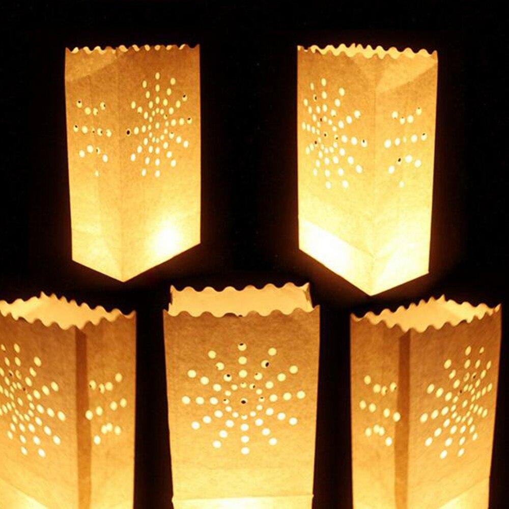 € 35.82 30% de réduction 100 pièces nuit décoration papier bougie sac  mariage anniversaire fête maison fête festival jardin décoration bougie  papier ...