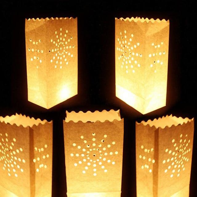100 pièces nuit décoration papier bougie sac mariage anniversaire ...