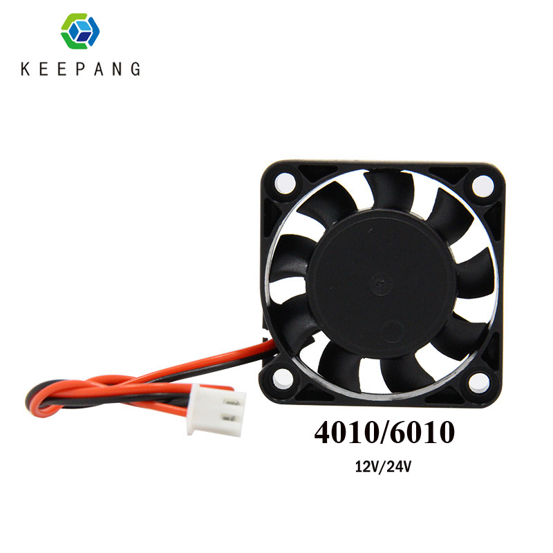 Kee Pang 3D Printer Cooling Fan 2510 3010 4010 5010 6010mm With 2Pin Dupont Wire Cooler Multiple Options DC12 24V Cooling Fan
