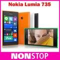Original abierto de Nokia Lumia 735 teléfono móvil Quad core 6.7MP cámara 1 G RAM 8 G ROM 3 G 4 G del teléfono móvil