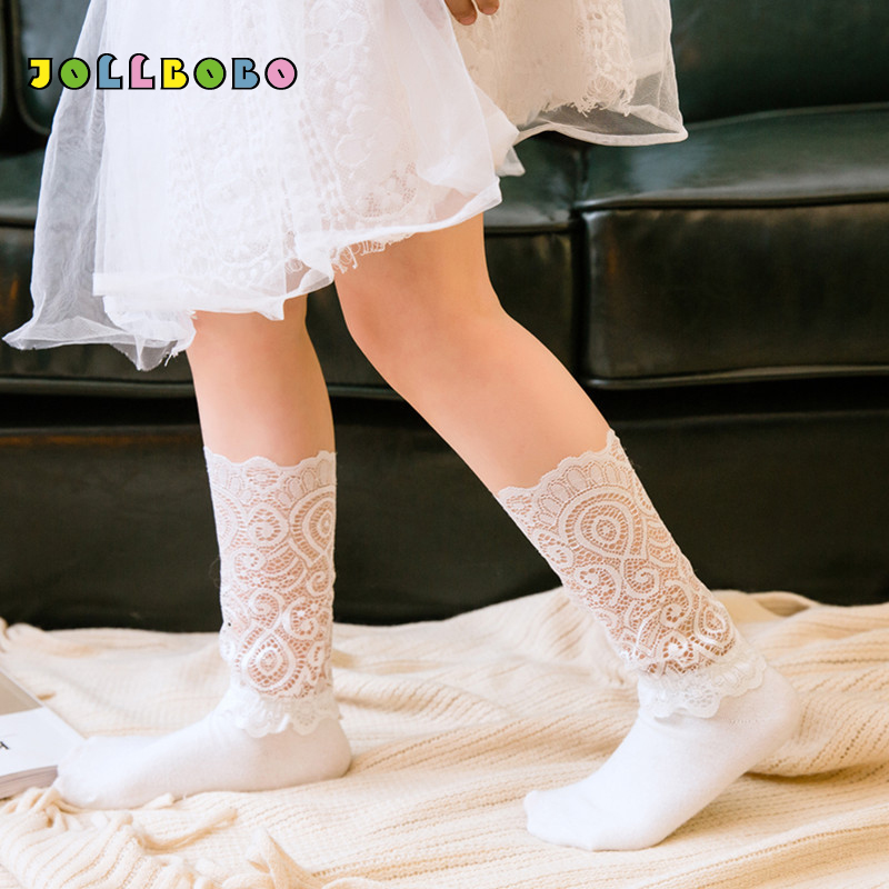 2018 Spring Summer Sexy Girls Socks With Lace Korean Style Hollow Out Comfortable Cotton Baby Kids Loose Socks For Children 3-8Y