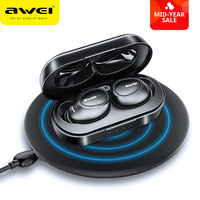 AWEI T6C Mini TWS Charging In Ear Wireless Bluetooth Earbuds Noise Cancelling Gaming Earphone Waterproof Auriculares Sport