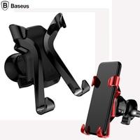 Baseus X Car Holder Air Vent Mount Suporte Do Telefone Do Carro Para iPhone 8 6 7 Samsung S8 universal Mobile Phone Holder Suporte