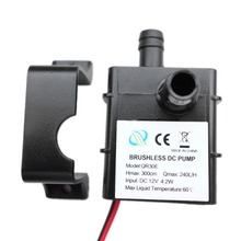 Ultra-quiet DC 12V 4.2W 240L/H Flow Rate Waterproof Brushless Pump Mini Submersible Water Pump dc 12v 10w sc1000 dc pump computer water cooling pump maximum flow 1000l h with speed measuring line controller