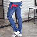 New Jeans for Boys 2-16 Years Kids Blue Long Patchwork Red Cotton Pants Boys Denim Jeans Clothing for Young Boys Clothes 023b