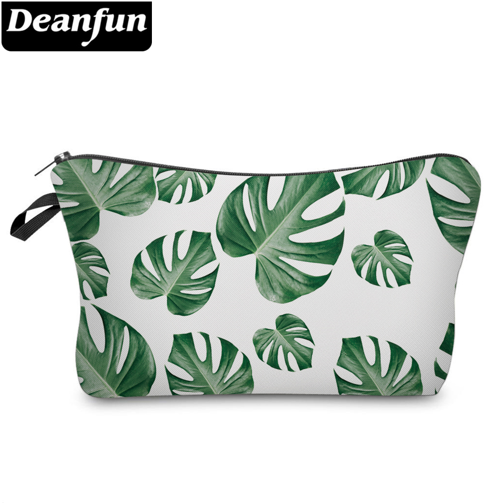 цена Deanfun Cosmetic Bags 3D Printed Leaves Necessaries for Women Makeup Travel Storage 51292