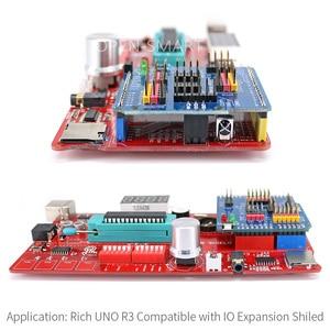 Image 5 - Rico multifunções uno r3 atmega328p placa de desenvolvimento para arduino uno r3 com mp3/ds1307 rtc/temperatura/módulo sensor de toque