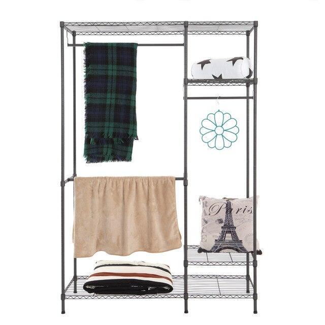 prendas de vestir de tela de mltiples funciones de rack perchero soporte hanger organizador del armario armario estantera en casa sin cubierta organizador