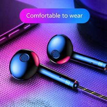 Earphone Headphones For Smart Phone PC Earphones Game Music Stereo Bass Headset Wired Earbuds HiFi Headphones With Microphone awei es 20ty hifi music wired earphones with microphone gray