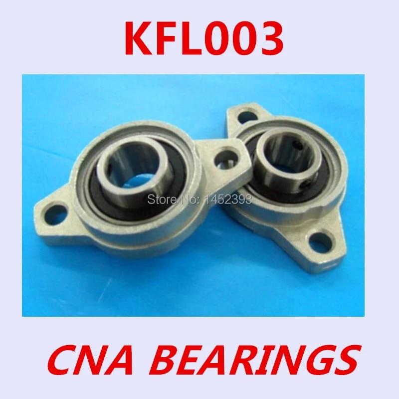 FL003 Zinc Alloy Flange 5 PCS KFL003 Metal Pillow Block Bearing 17mm