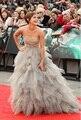 Emma Watson Mismo Estilo Vestido de Noche de 2017 Por Encargo de la Cucharada Cuello Sin Mangas Con Gradas del vestido de Bola de la Alfombra Roja Vestidos de La Celebridad