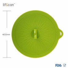 Liflicon Glass Lids 8.46(215mm) Silicone Suction Colorful Food Covers-Airtight Seal Microwave Safe Mugs Pots Bowls