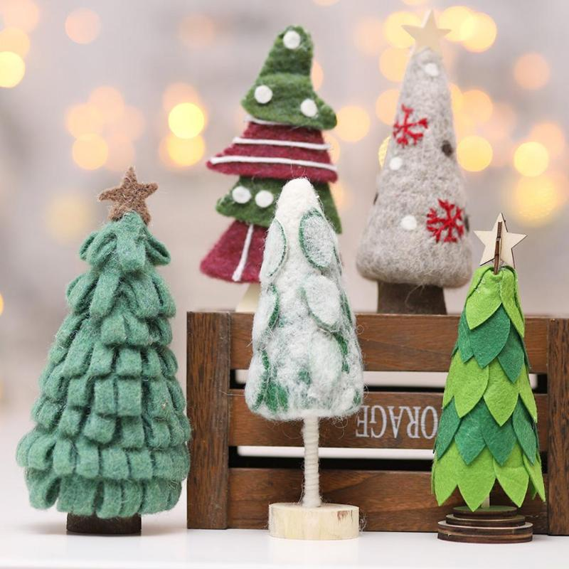 Christmas Wool Felt Xmas Tree Home Office Bar Window ...