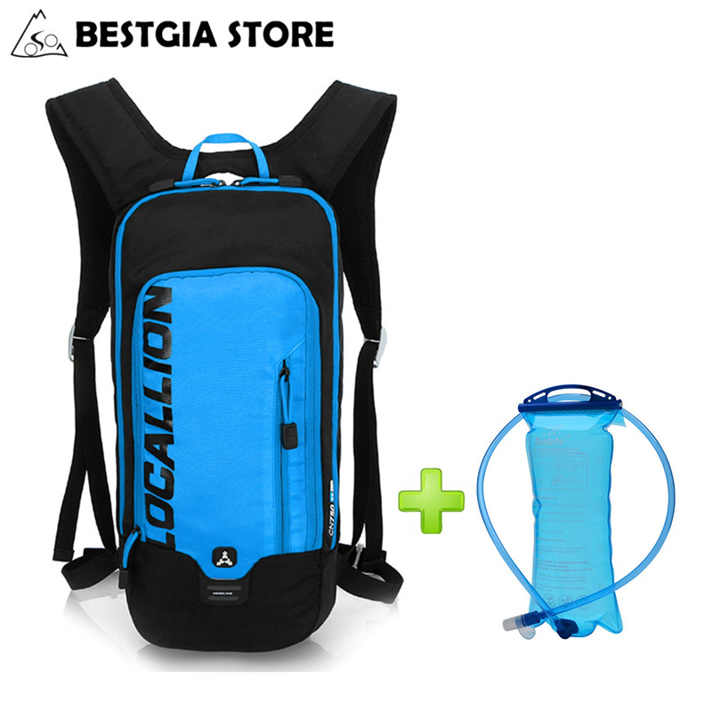 Waterproof Bicycle Backpack Cycling Hydration Bag With 2L Water Bladder Outdoor Pack Running Bicycle Portable Backpack Sport Bag 2017 18l waterproof camping backpack 2l water bag outdoor sports climbing riding cycling travel bag sport rucksacks knapsack