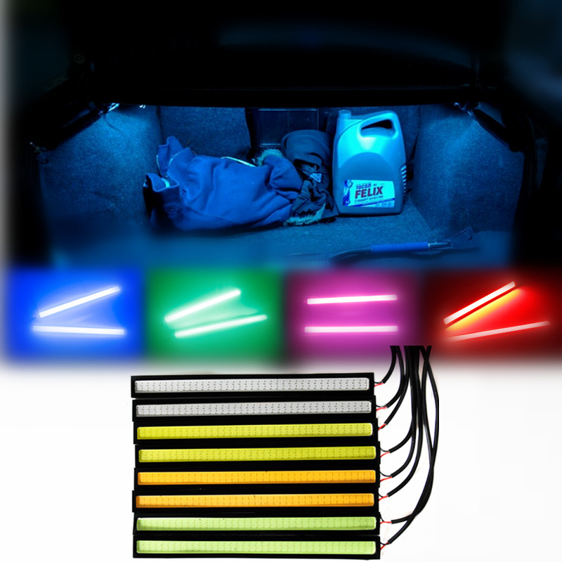 car 2 17cm diy 65 cob led drl daytime running light red green pink car styling tail fog lamp. Black Bedroom Furniture Sets. Home Design Ideas
