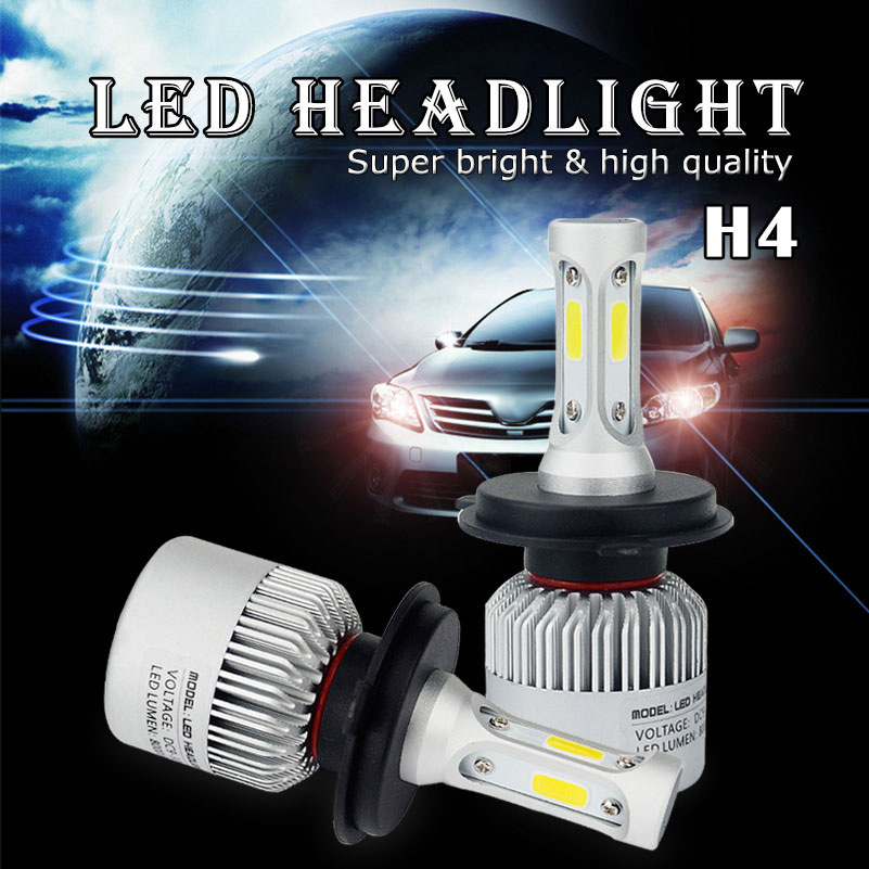 2X For Lada Granta Kalina 2 1 Priora Vaz Niva Largus 2107 2110 2114 4x4 H7 H4 9003 LED Headlight Bulb Fog Lamp 16000LM 12V