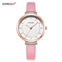 2018 LONGBO Brand Elegance Women Watches Luxury Ladies Quartz Wristwatches Waterproof Leather Simple Casual Female Watch Gifts