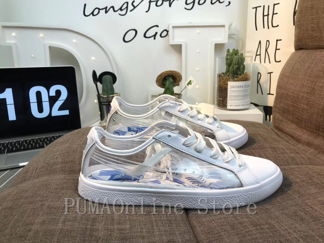 2018 Original PUMA Women s x Shantell Martin Clyde Clear Sneakers Men s and Women s  Sneaker Badminton Shoes Size 36 44-in Badminton Shoes from Sports ... 1d2bb5304