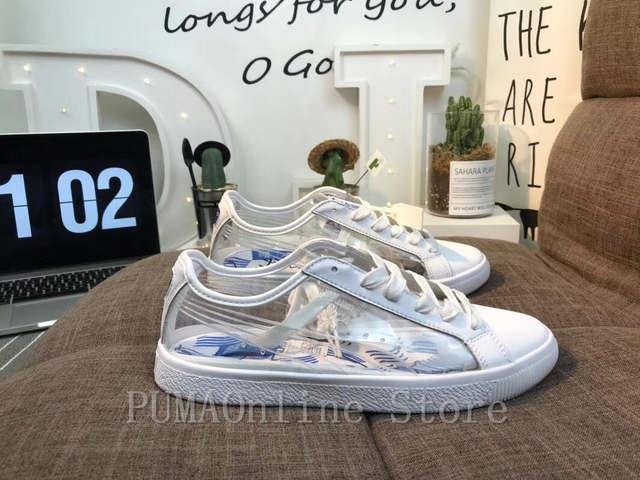 super cute 54021 8dd6f US $58.99 |2018 Original PUMA Women's x Shantell Martin Clyde Clear  Sneakers Men's and Women's Sneaker Badminton Shoes Size 36 44-in Badminton  Shoes ...