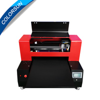 Automatic 12 color 6060 uv flatbed printer for plastic, acrylic, phonecase,T shirt double printhead 60*60cm UV flatbed printer