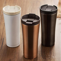 Hot Koop 350 ml Double Wall rvs auto cup thermos vacuüm thermofles fles travel beker mini hot koude water0839