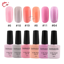 Pink Series Colors Dannail Gel Polish Long-lasting Gel Polish Soak-off LED Lamp Nail Gel Polish Varnish  Nail Art Tool