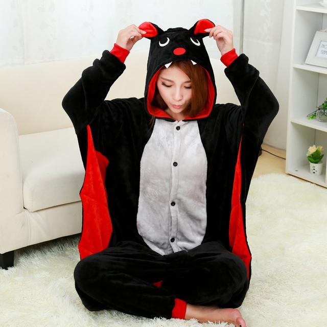 Nueva Bat Pijamas Para Las Mujeres Camisón Pijama Adultos Pijamas Pijamas Pijama de Una Pieza de Poliéster