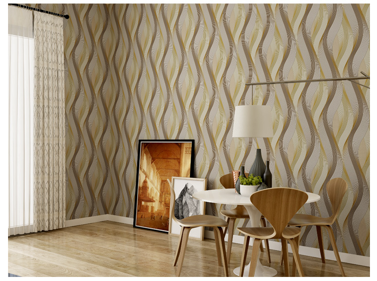 Modern 3D Curved Wallpapers Grey 3D Wallpaper Striped Living Room Background Vinyl PVC Wall Paper Roll papel de parede listrado ft 150603 senior imitation straw texture striped wallpaper roll for living room vinyl wall paperpapel parede listrado