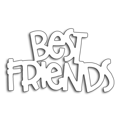 Ufurty BEST FRIENDS Metal Cutting Dies Stencils Steel DIY Scrapbooking Craft Embossing Die Cuts Album Paper Card Decorative