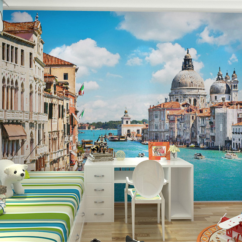 Custom Photo Wall Paper 3D Venice Building Large Wall Painting Bedroom Living Room TV Background Wallpaper Papel Pintado Pared