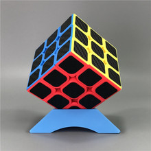 Free Shipping Mini Office Relaxing Magic Cube 3x3x3 Carbon Fiber Sticker Puzzle Speed Toys For Children Learning Cubo