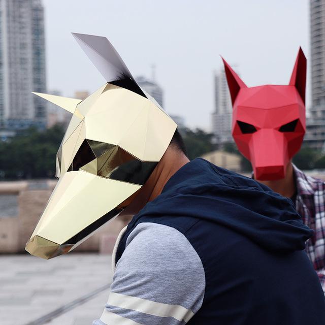 Le Caniche – Paper Mask 3D Creative