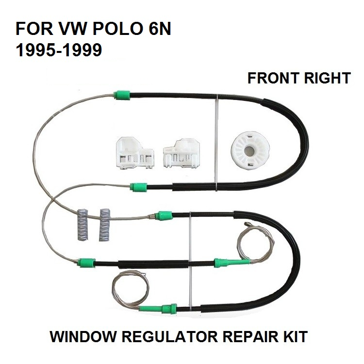 WINDOW REGULATOR REPAIR KIT FOR VW POLO 6N FRONT-RIGHT NEW 1995-1999