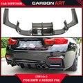 F80 F82 3D M4 estilo difusor traseiro de fibra de carbono do ar 2-door pára lábio para bmw m3 m4 4-door f82 f80 2015