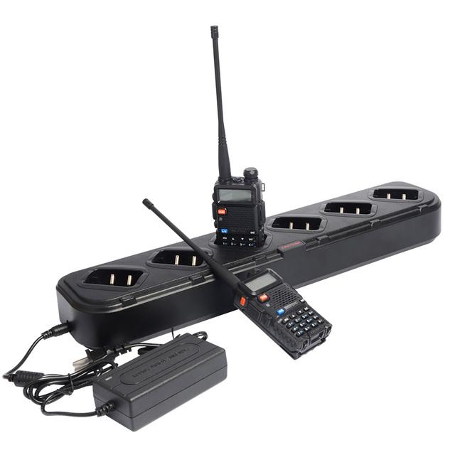 Acessórios Seis Maneira Carregador de Rádio Handheld Walkie Talkie Baofeng Única Linha Universal Carregador Rápido para UV-5R UV-5RA UV-5RE