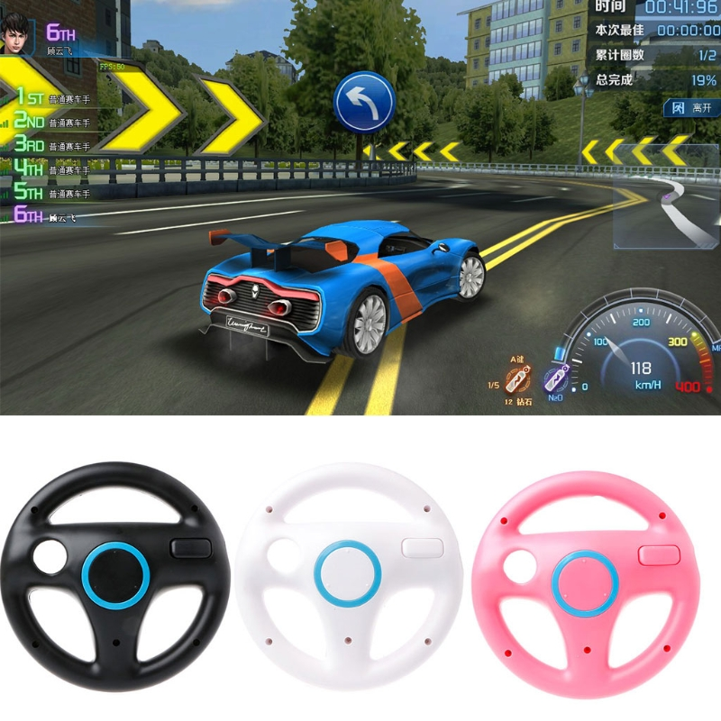US $3 2 17% OFF|New Steering Wheel Controller Handle Holder Grip Kart  Racing Game For Nintendo Wii-in Video Games Wheels from Consumer  Electronics on