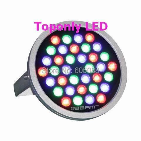 36 Вт Edison rgb светодио дный прожекторы лампы IP67 водонепроницаемый круглый наводнения свет DC24V Совместимость с нормальной RGB и DMX512 светодио дны