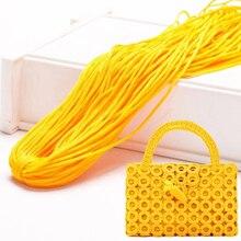 Практичная ручная работа, плетение, нить, цветная, сделай сам, вязальная нить для одежды, сумок, шляп, обуви, украшения ручной работы, шнуры