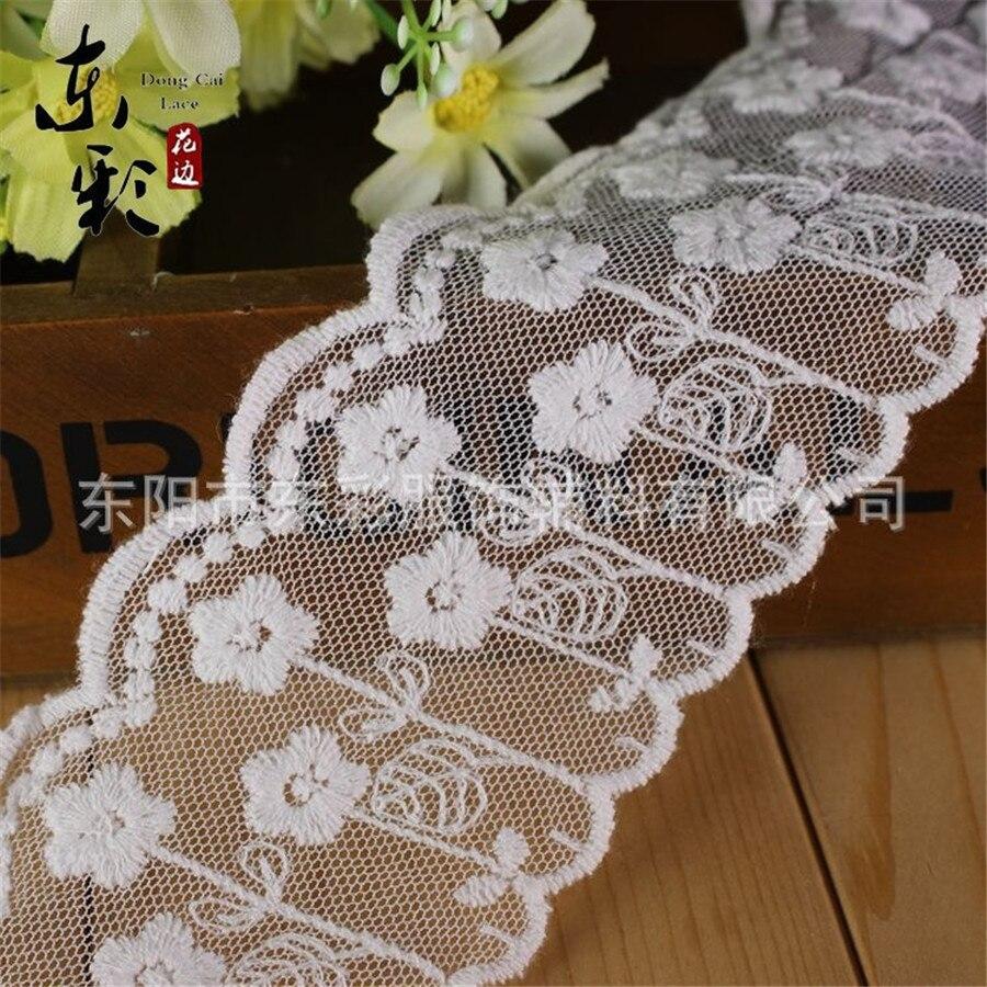 656b34b82725f 15yard   6 cm Bordado algodón Encaje cinta organza Encaje DIY Costura ropa  hecha a mano moda manga Pantalones borde Accesorios