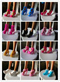 Бесплатная доставка Детей малышей детские toys Девушки Подарок Куклу Аксессуары Mix Стиль Цвет 10 Пара обувь Для Barbie оригинальные Куклы 1/6