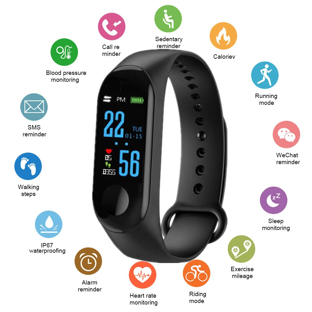 Smart Watch Men Women Heart Rate Monitor Blood Pressure Fitness Tracker Smartwatch Sport Smart Clock Watch For IOS Android