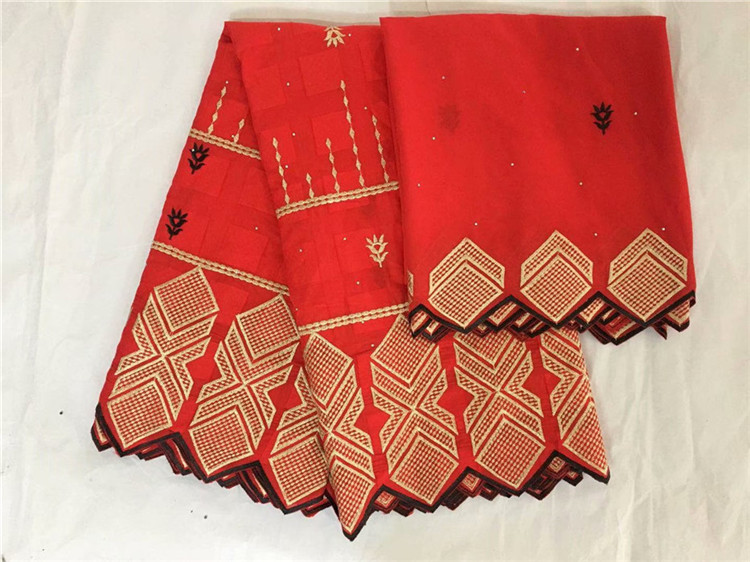 Hot sale embroidery African cotton lace fabric and 2y Swiss voile scarf fabric for sewing dress set IKCV10(5+2y) many colorHot sale embroidery African cotton lace fabric and 2y Swiss voile scarf fabric for sewing dress set IKCV10(5+2y) many color