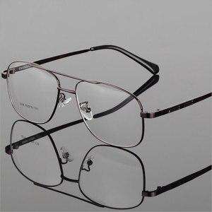 Image 5 - Mode Retro Metall Große Box Runde Brille Rahmen Myopie Männer Brillen Optische Verordnung Doppel Brücke Brillen