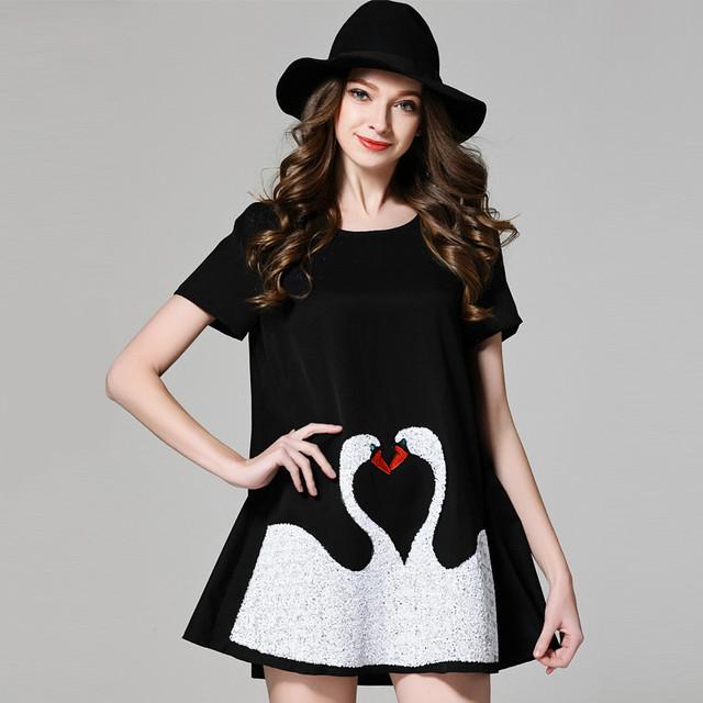2016 mujeres de moda de verano precioso de la Camiseta mujeres de gran tamaño suelta de manga corta camisa de lentejuelas y largas secciones