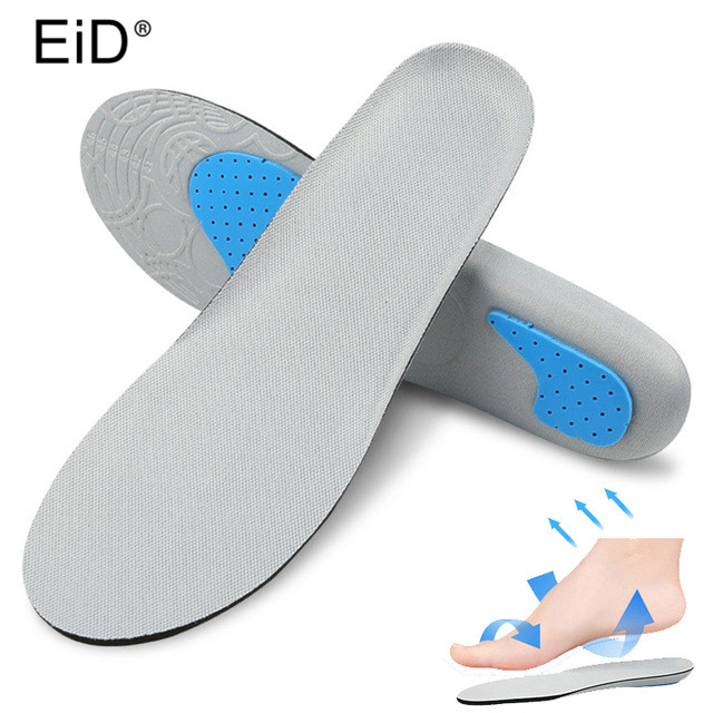EID Orthopedic Insoles Orthotic Arch Support Sport Shoe Pad  Sport Running Gel Insoles Insert Cushion For Men Women