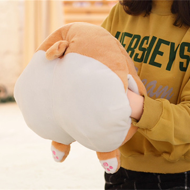 цены Novelty Corgi Butt Plush Corgi Pillow Hip Hand Warmer Cartoon Animal Sofa Cushion Stuffed Dog Kids Soft Toy New Year's Toys ZJD