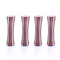 150mm Furniture Legs Bed Sofa Kitchen Cabinet Feet Stand Base 6mm Adjustable Copper Aluminum Alloy Pack